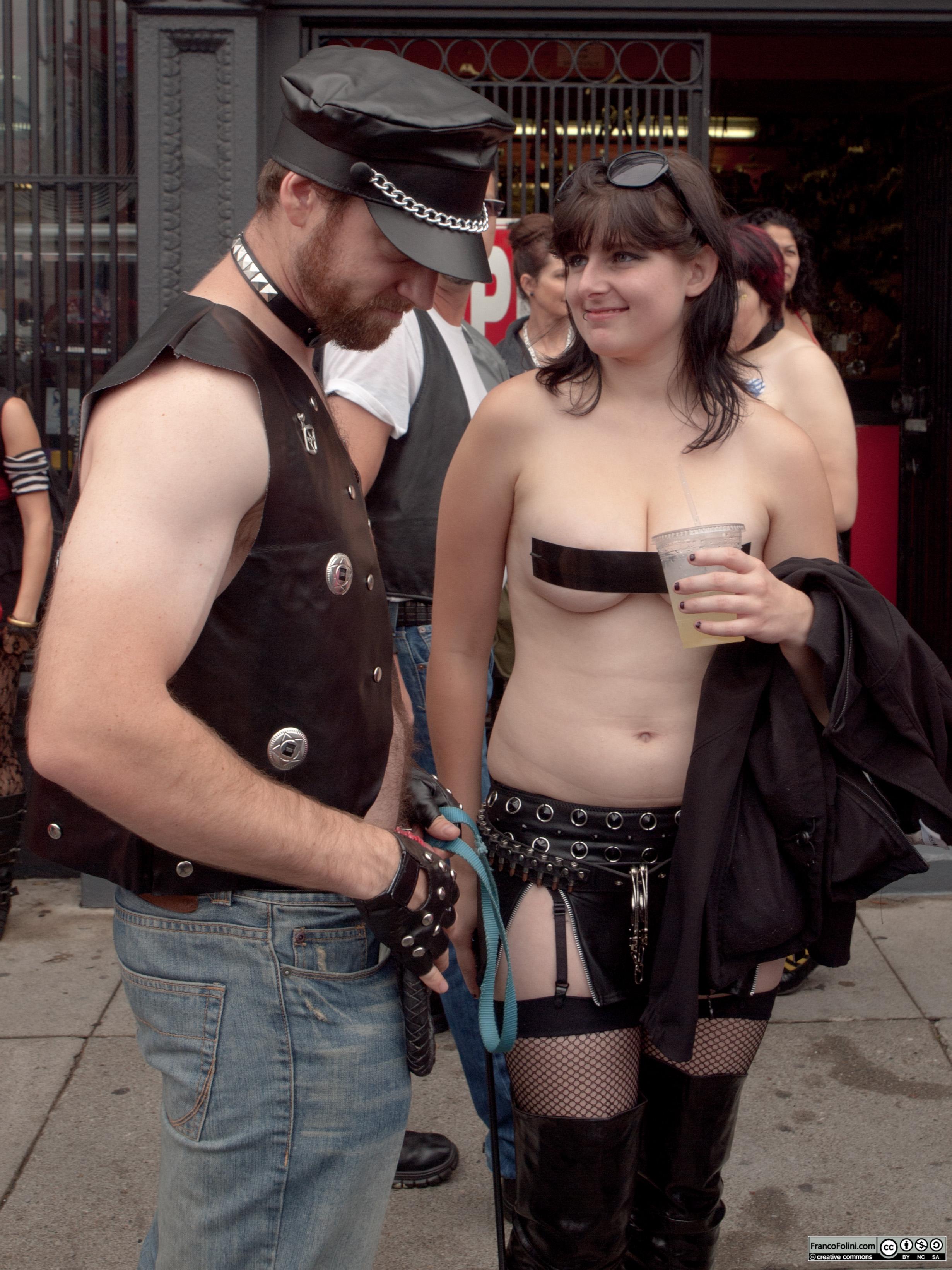San Francisco Folsom Street Fair: S&M couple