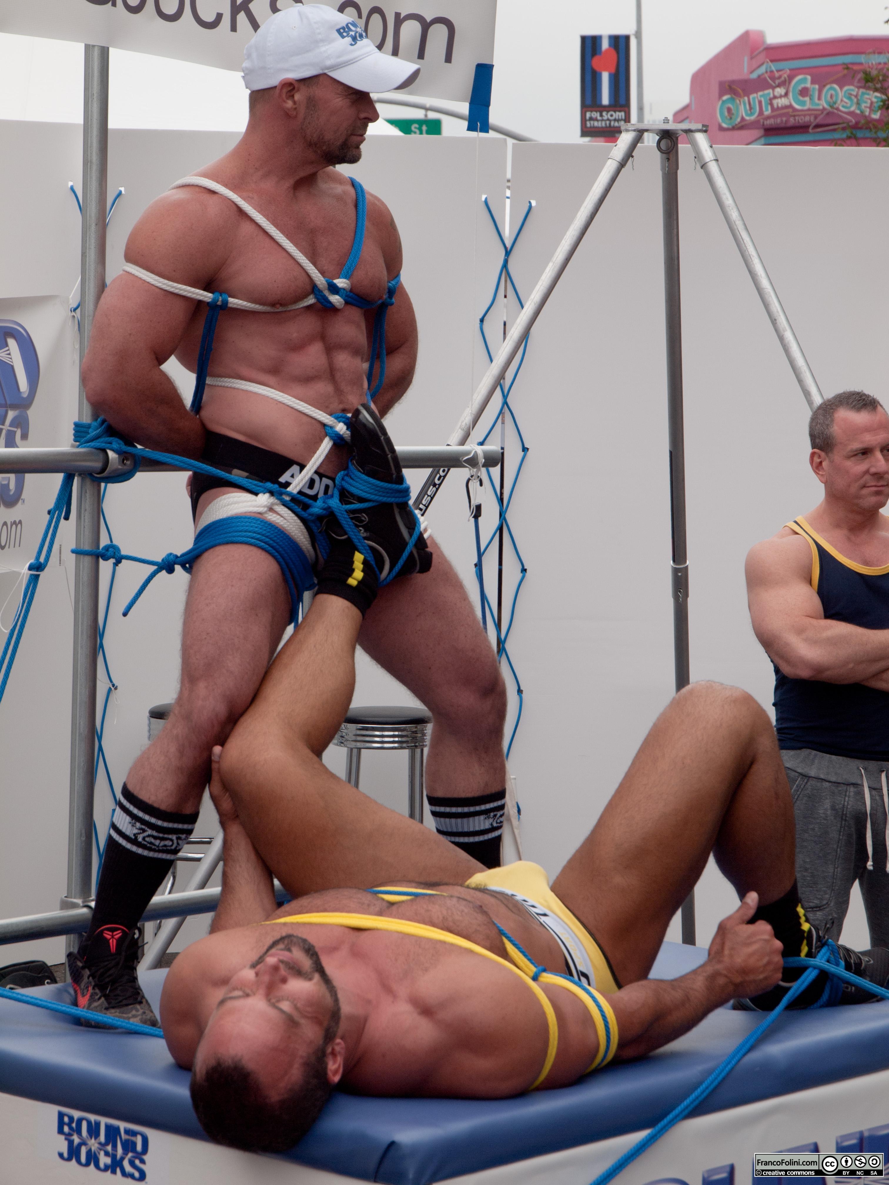 San Francisco Folsom Street Fair: ritual macho fight