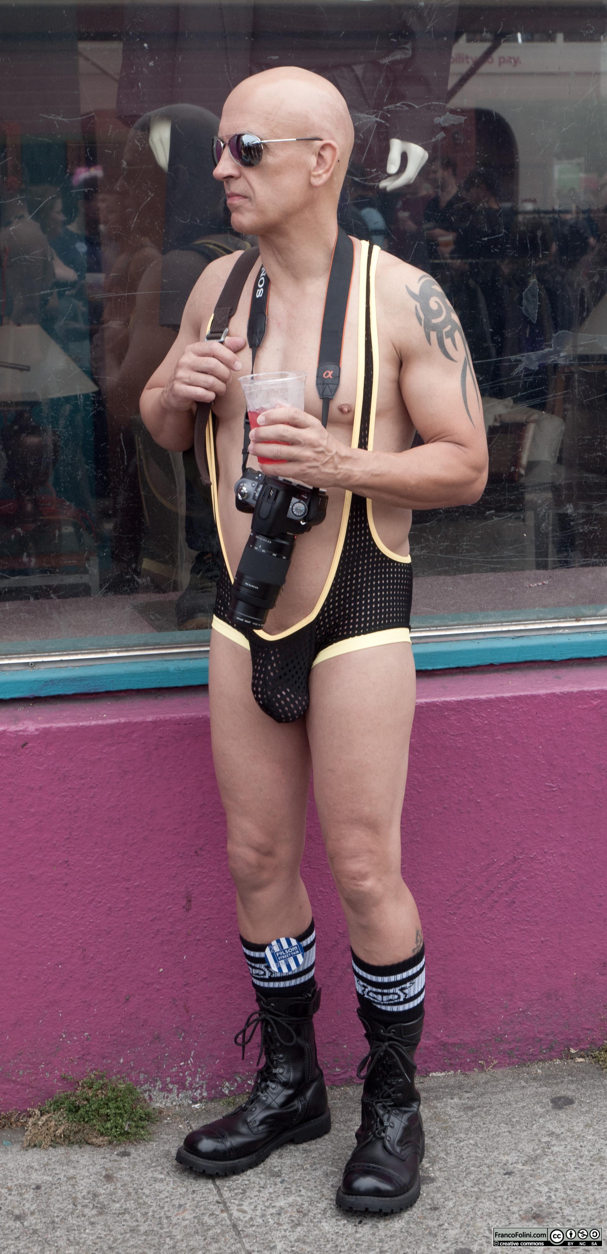 San Francisco Folsom Street Fair: Photographer with silly costume