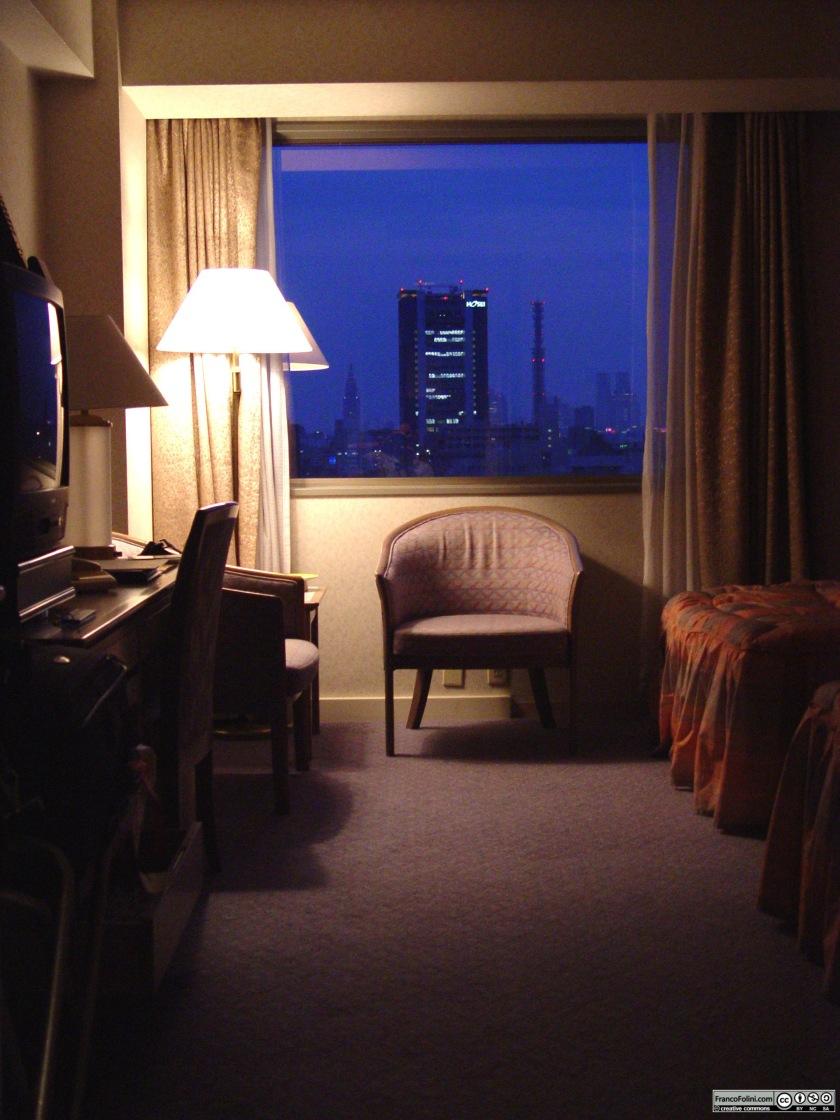 Tokyo: la stanza del mio albergo