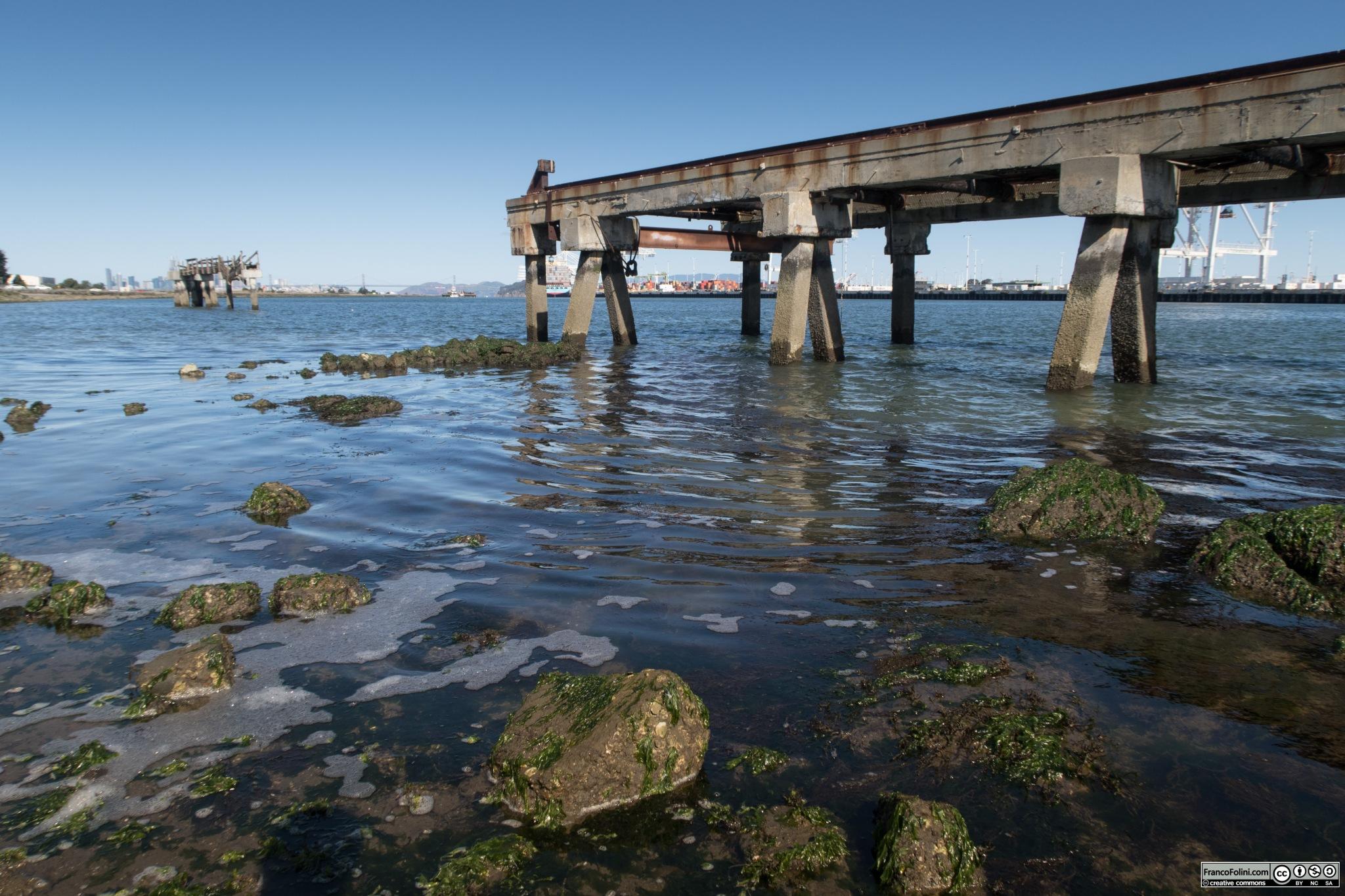 Il canale che separa Oakland e Alameda. In origine Alameda era una penisola, ma lo scavo del canale ne ha fatto un'isola.