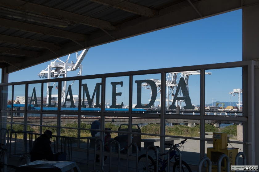 The Alameda ferry terminal