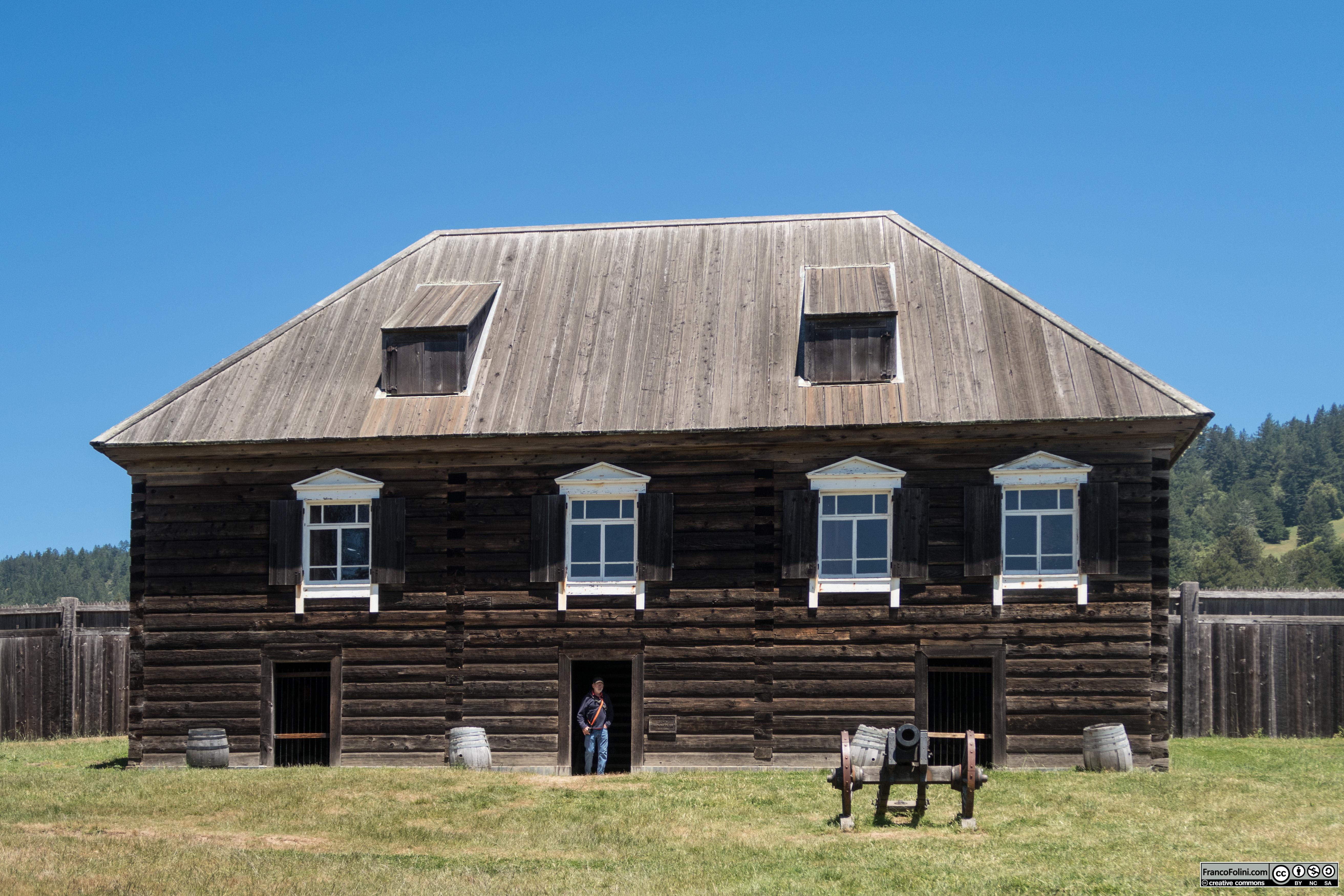 Fort Ross: l'edificio con quello che era il magazzino principale