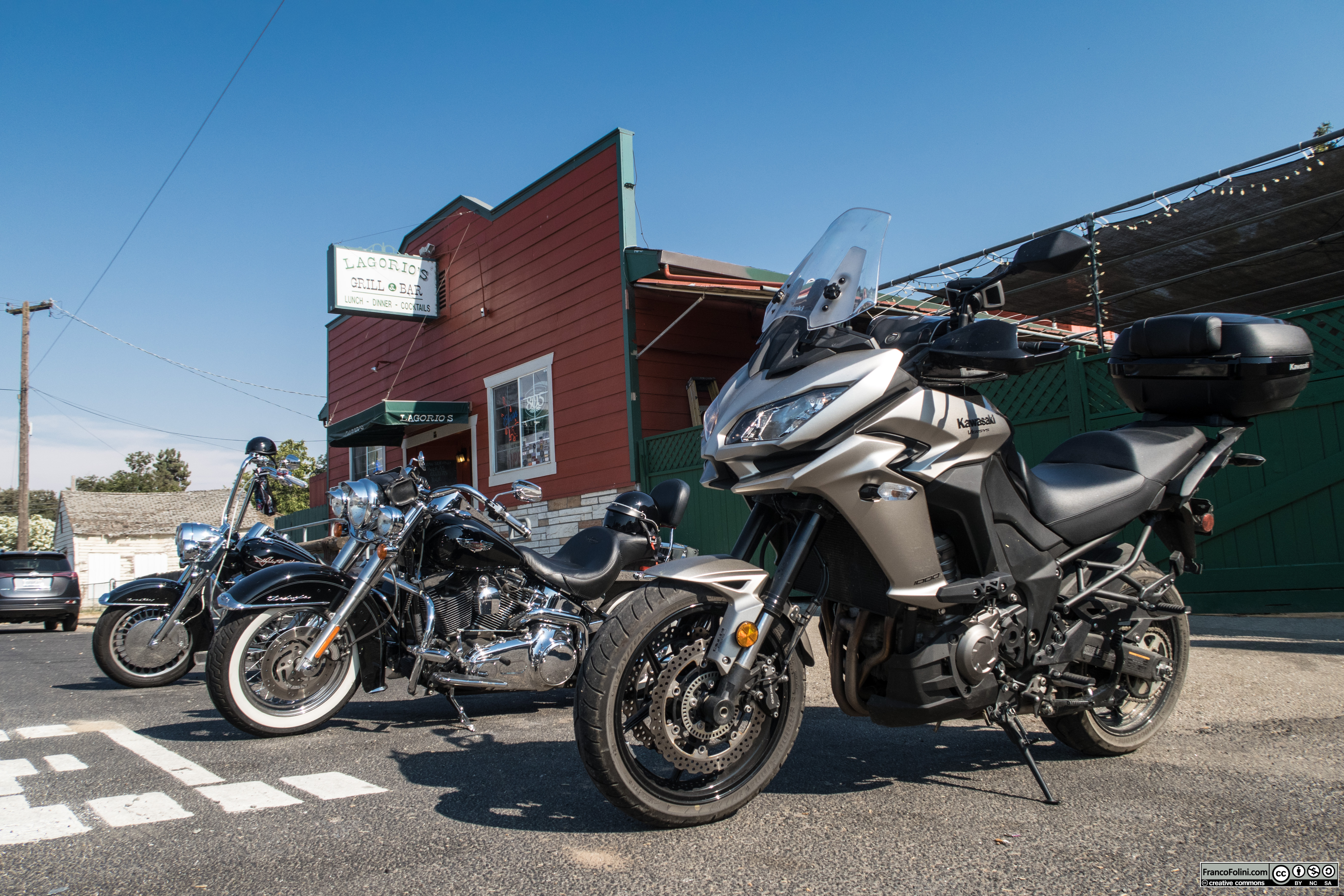 Lagorio's Grill & Bar in Farmington, a popular stop for motorbikers