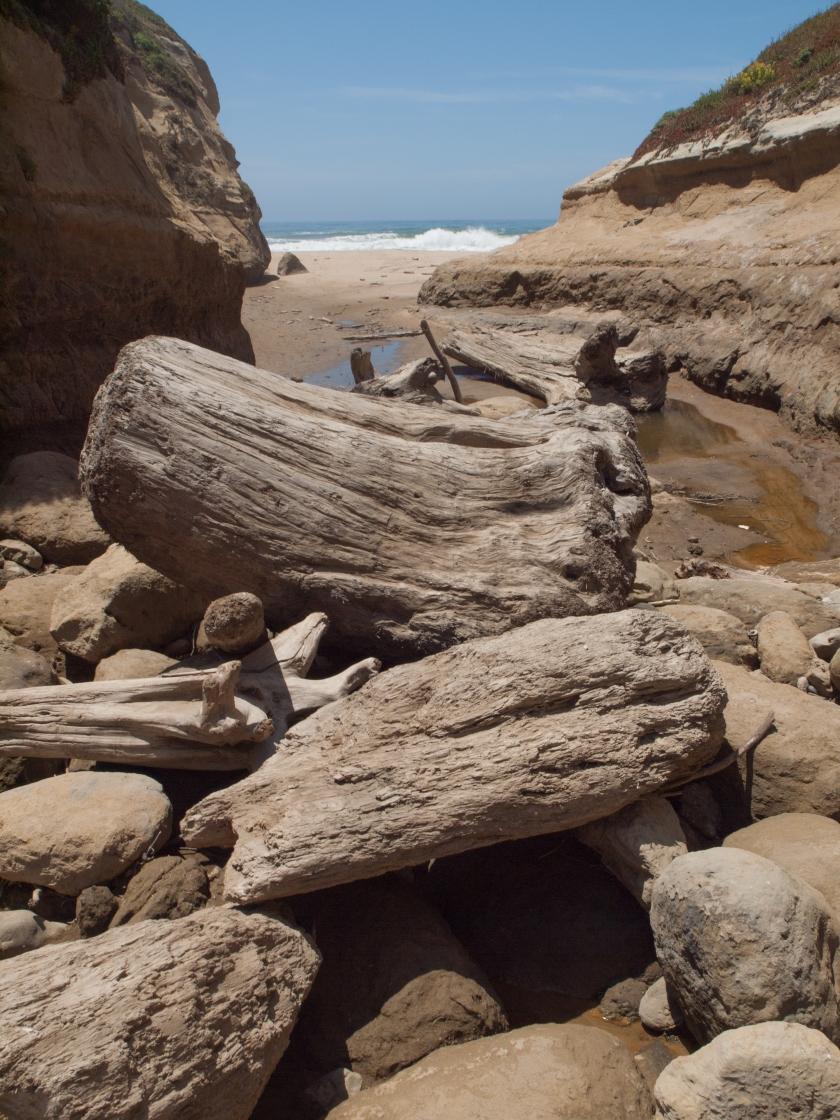 Long Gulch, la piccola insenatura che porta alla spiaggia segreta.