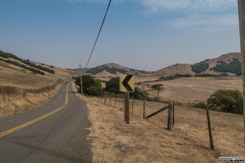La strada tra Petaluma e Tomales offre continuamente angoli pittoreschi