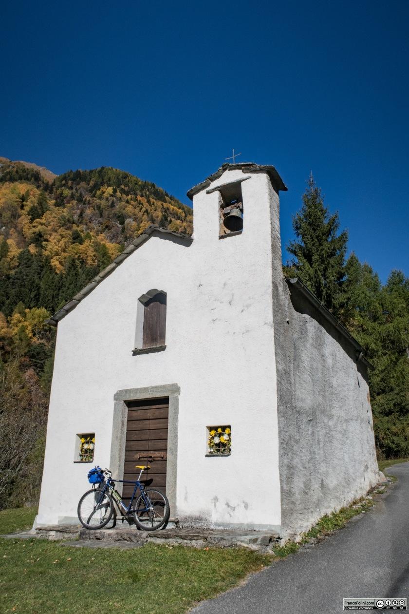 La chiesetta di Sant'Antonio, a circa 1200 metri di altitudine