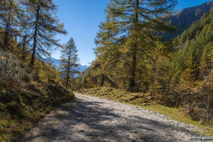 La strada , benche' ripida e sconnessa, offre continuamente imperdibili scorci