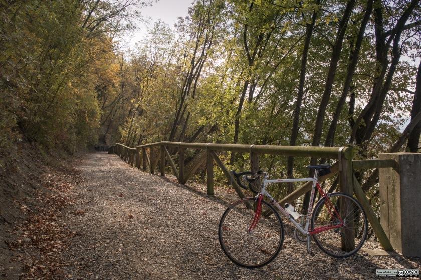 E' possibile percorrere il tratto del Sentiero della Val Tidone che gira attorno al lago di Trebecco. Visto il fondo ghiaioso, probabilmente una MTB sarebbe piu' adatta di una bici da strada.