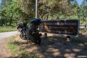 Ingresso del Purisima Creek Redwoods Open Space Preserve.
