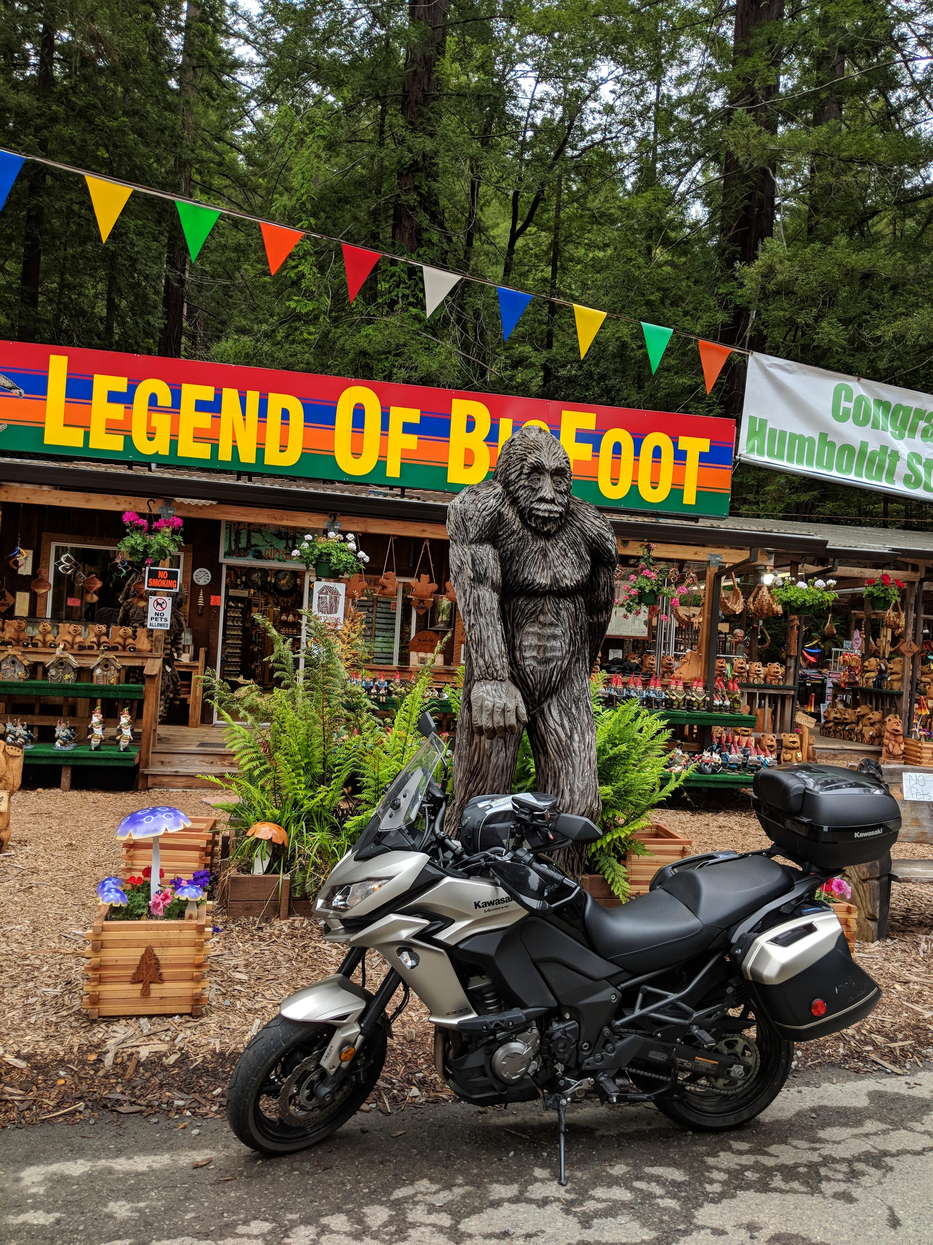 Queste sono le terre in cui sono ambientate le leggende di Bigfoot. Che c'e' di meglio del vendere souvenir di Bigfoot ai turisti?