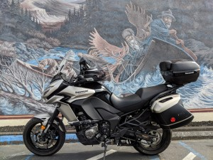 Murale ad Eureka che rievoca l'avventuroso periodo dei primi pionieri.
