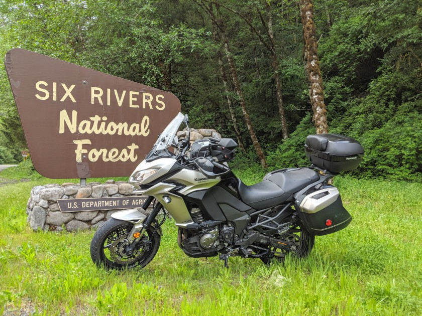L'ingresso nella Six Rivers National Forest.