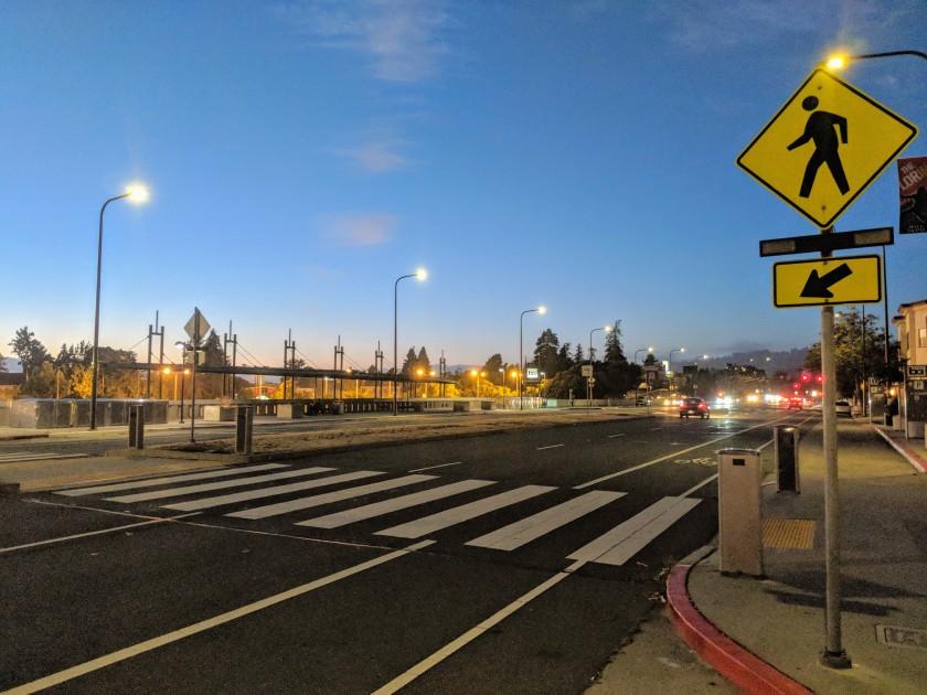 Ashby BART Station by Night, Berkeley, CA