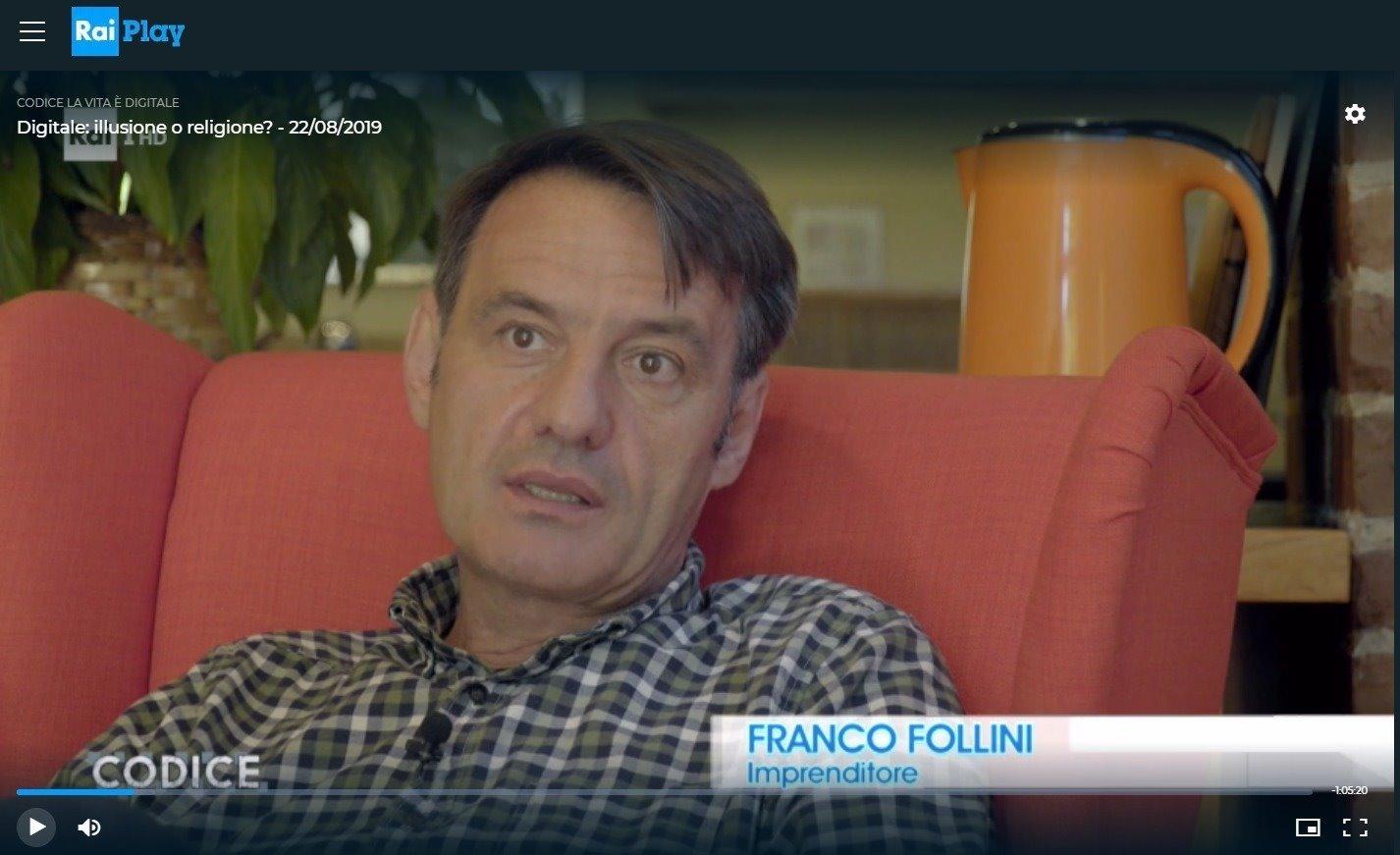 Franco Folini a Codice, RAI 1