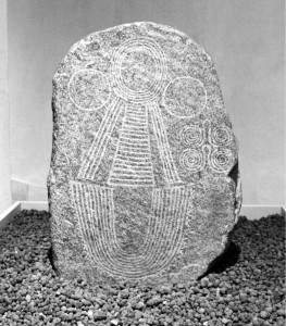"""The """"Goddess Mother"""" stone was found in 1940 on the vineyards near my village. With several other similar stones it is now displayed by the local archeological museum located at Palazzo Besta in Teglio."""