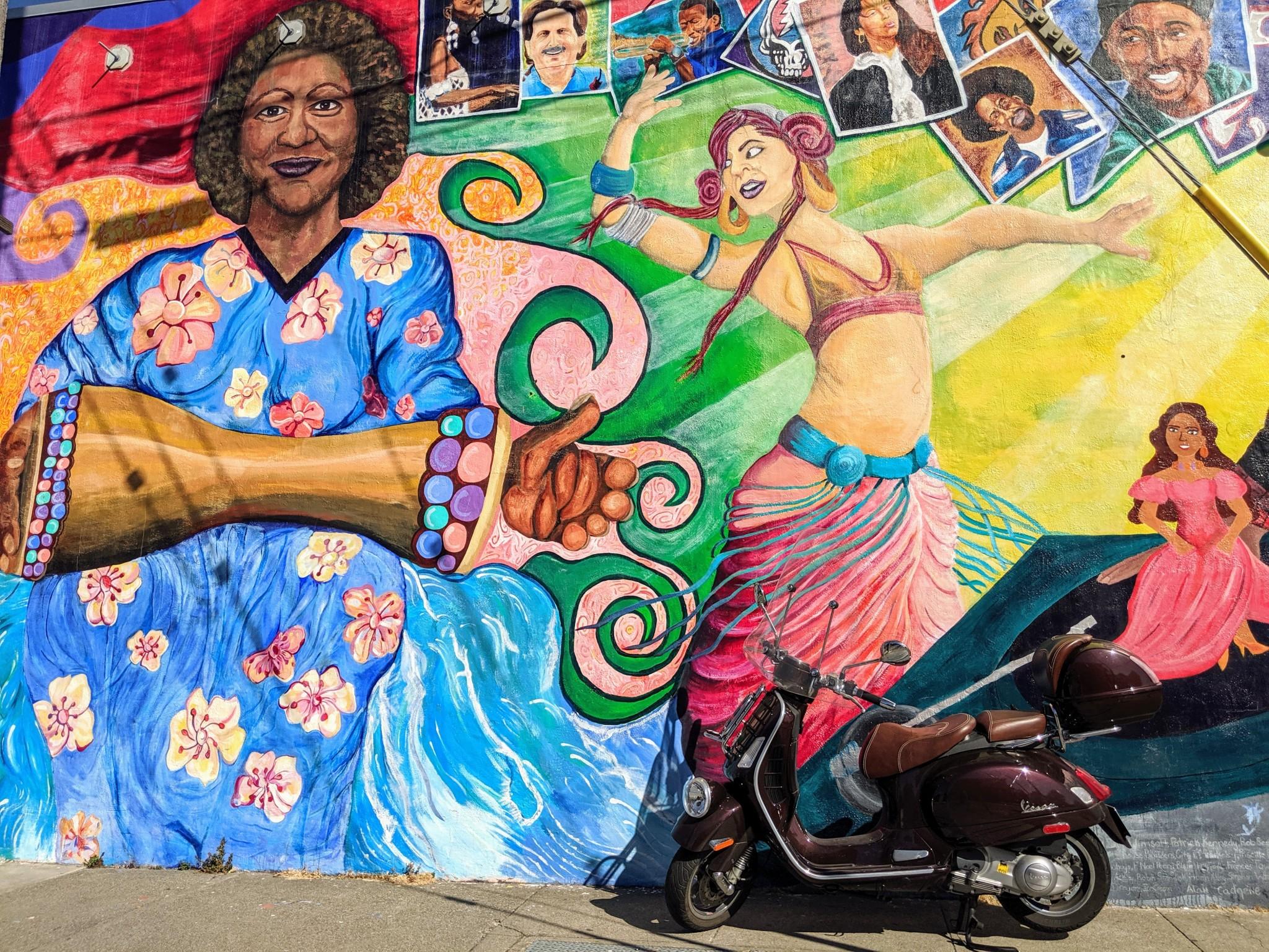 Mural & the Vespa