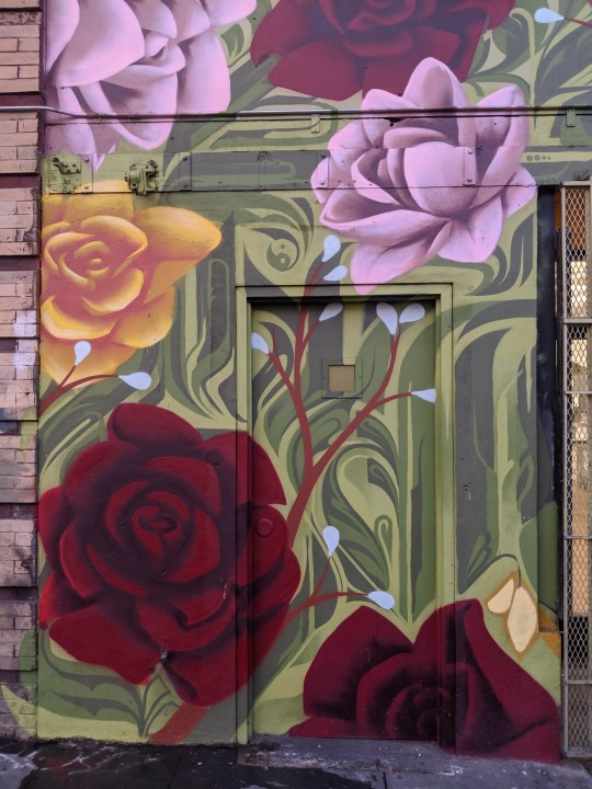 Floral Mural in South of Market, San Francisco, California