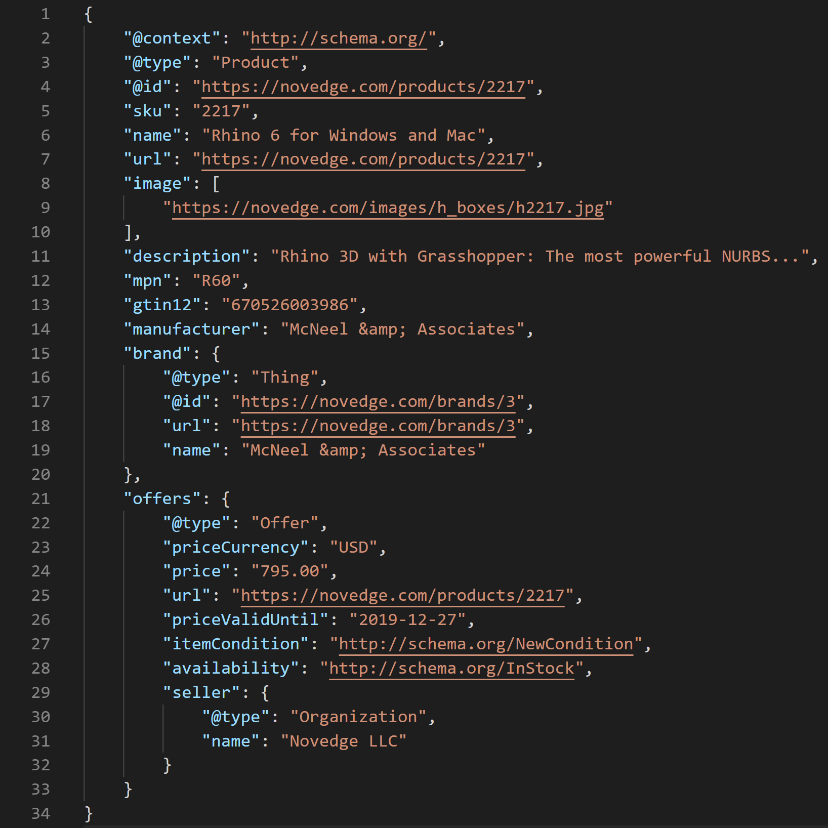Structured Data: a real JSON-LD example.
