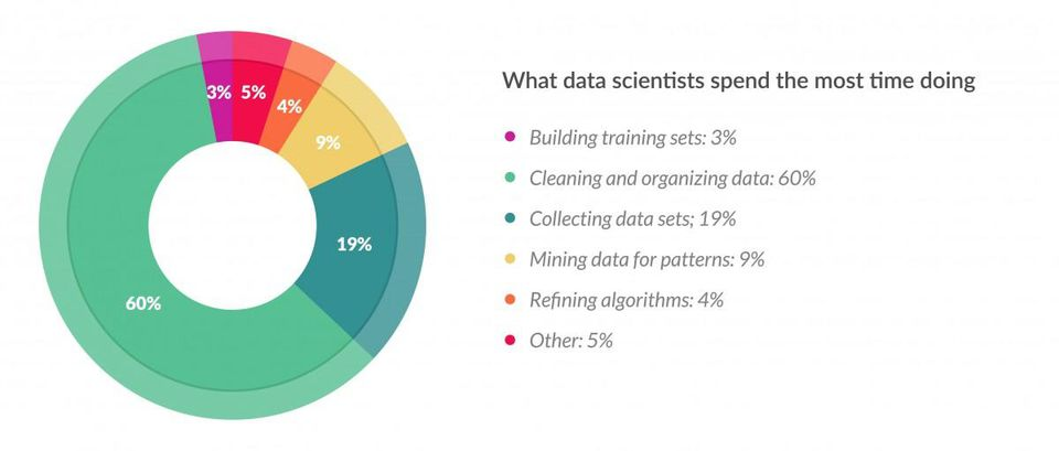 What data scientist spend the most time doing?