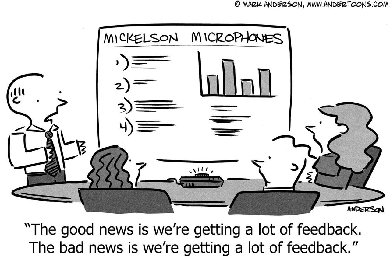 eCommerce: Good feedback vs. bad feedback.