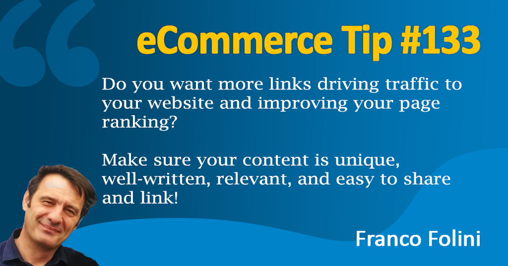 eCommerce: How to leverage your content to attract valuable backlinks