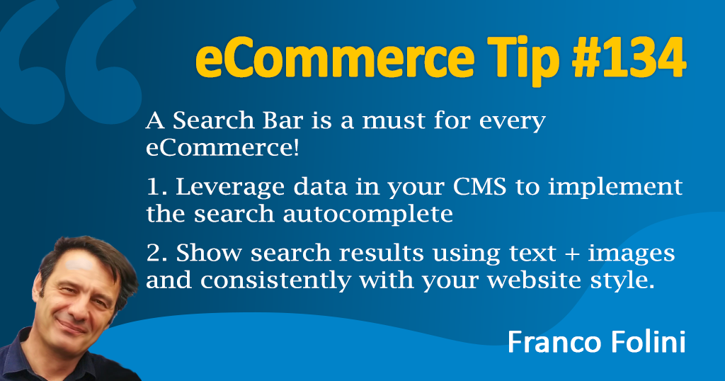 eCommerce: Increase Conversion Rate with a better search bar