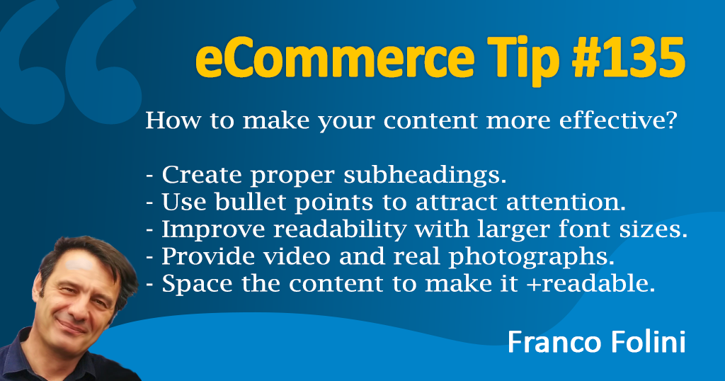 eCommerce: Learn how to create effective content and improve your Conversion Rate