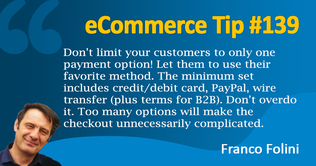 eCommerce :Let your customers use their favorite payment method!