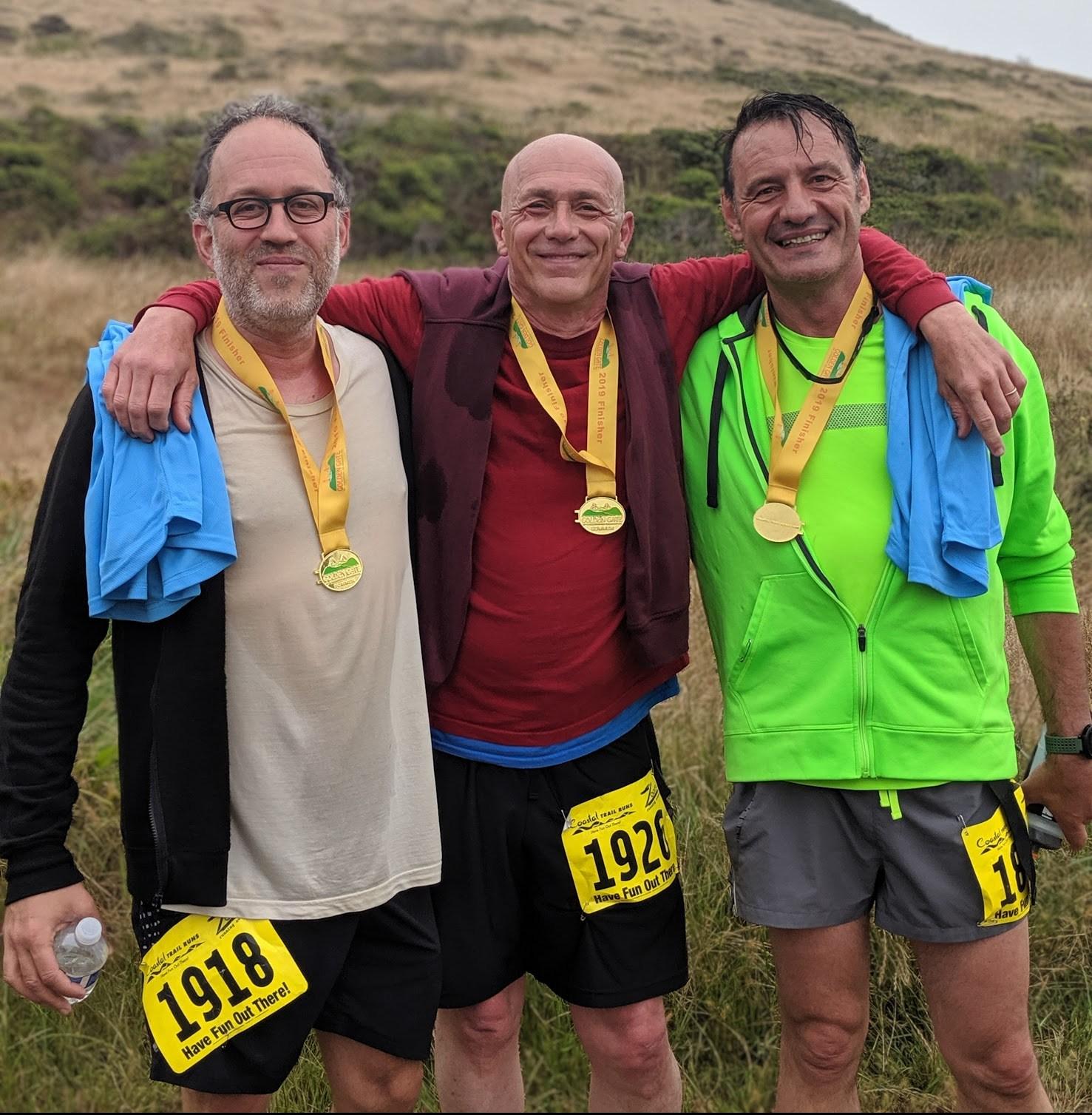Il gruppo ristretto dei mie amici runner. Qui siamo stati immortalati a Marin County alla fine di una trail run di circa 8 km con important isalite e discese.