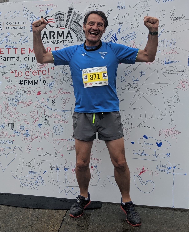 La mi mezza maratona successiva l'ho corsa a Parma. Non ho fatto un grande tempo,. ma quello non era il mio obiettivo. Il mio goal era completare la gara e divertirmi. Obiettivo raggiunto!