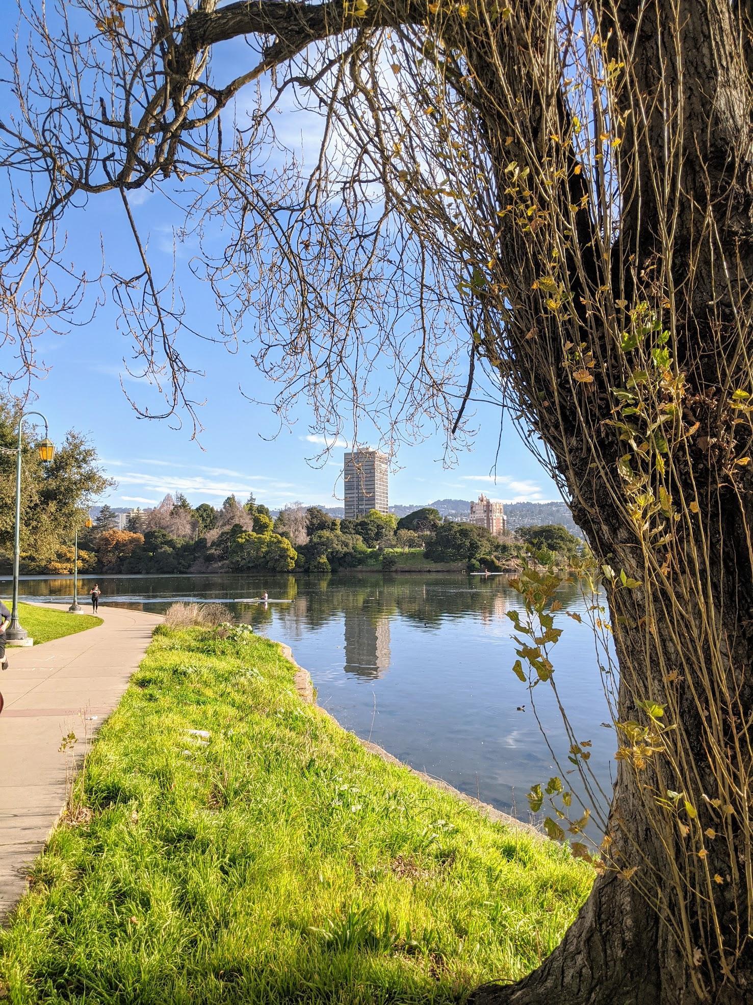 Lake Merritt a Oakland, CA. Il giro del lago sono esattamente 5 km. Percorso perfetto per una corsetta rilassata la domenica mattina.