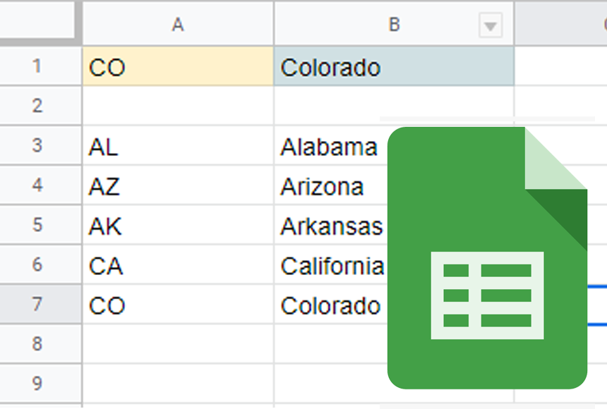 Advanced use of LOOKUP(), VLOOKUP(), and HLOOKUP() functions. Examples for Google Sheets