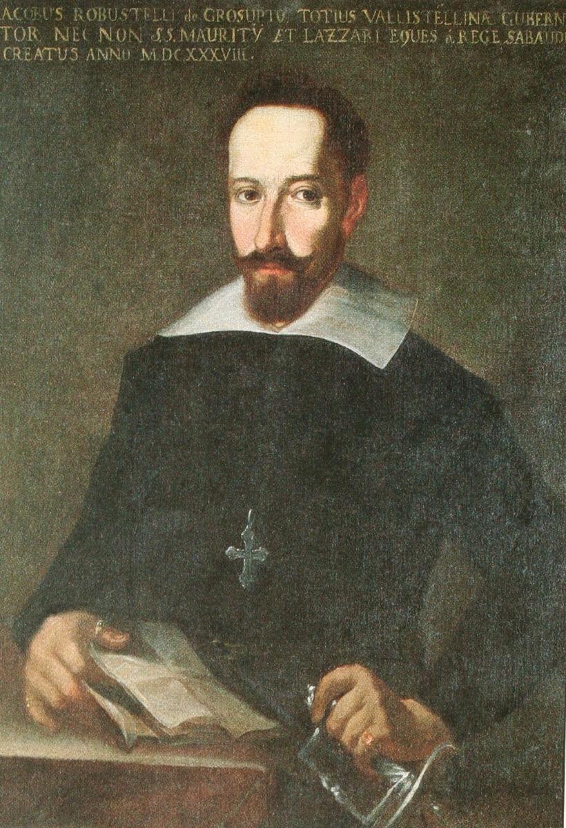 Ritratto del cavaliere Giacomo Robustelli (Grosotto, circa 1583 – Domaso, 1646) con l'onorificenza dell'Ordine dei Santi Maurizio e Lazzaro