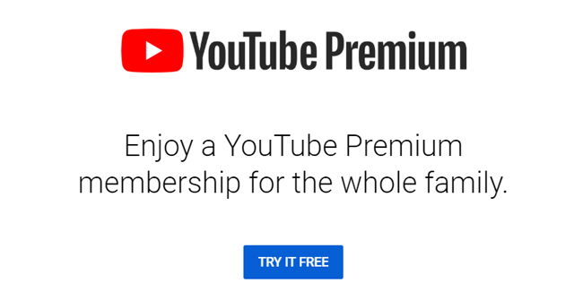 Annoying popup promoting the upgrade to YouTube Premium subscription.