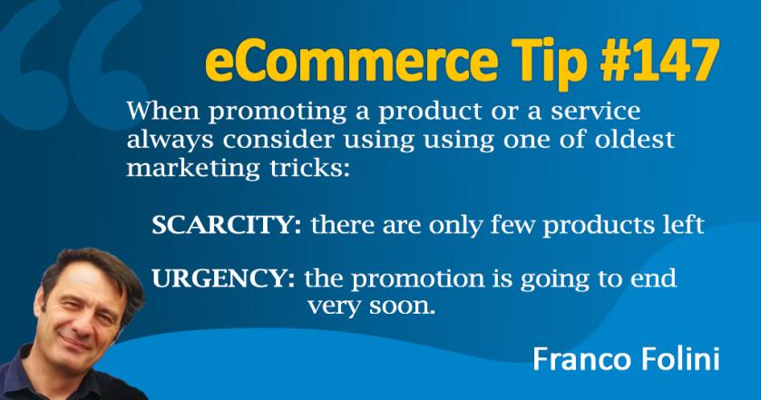 eCommerce and marketing Tip #146 – © Franco Folini
