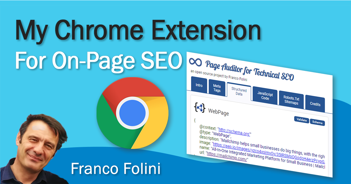 I wrote a Chrome Extension to perform on-page SEO analysis